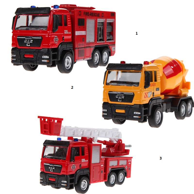 Free Shipping 1:55 Sliding Alloy Car Truck Model Children Toys Fire Engine K5BO(China (Mainland))