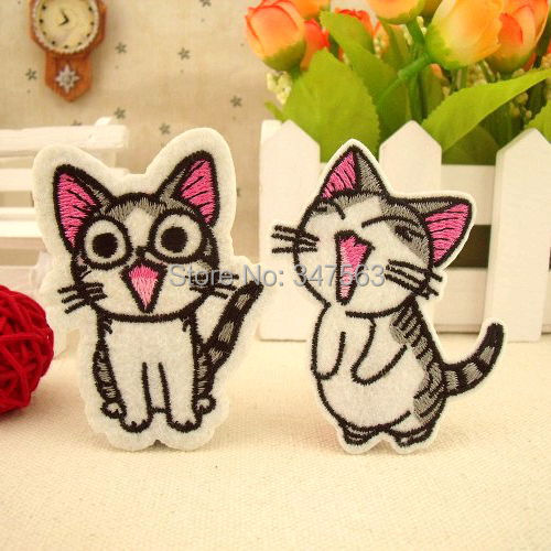 Iron stick buiter patch post baby clothing personality children's clothing accessories Happy cat scrapbooking patches sewing(China (Mainland))