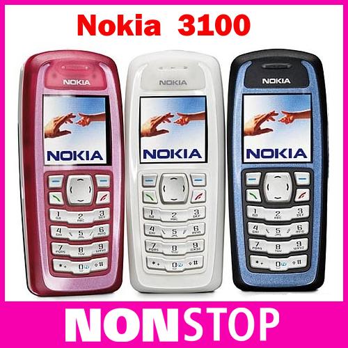 Refurbished Original Nokia 3100 unlocked phone GSM bar mobile phones cheap phones Free shipping(China (Mainland))