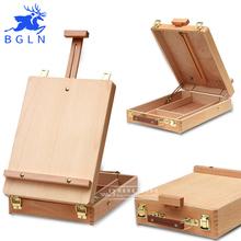 Bgln Fillet Desktop Caballete Box Easel Painting Hardware Accessories Multifunctional Oil Paint Suitcase Box Art Supplies(China (Mainland))
