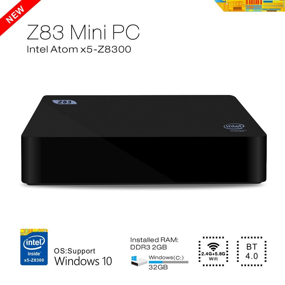 Android Z83 TV Box Atom X5-Z8300 Quad-core 4K 1000M Ethernet 64 Bit 2.4G 5.8G WiFi BT4.0 Connectivity Set-top Box EU/US/UK Plug