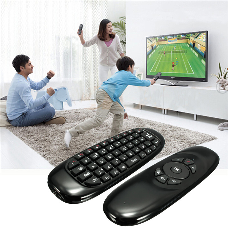 2016 New Arrived Rechargeable 2.4G Mini Wireless Remote Control Keyboard Fly Air Mouse 10M Distance For Xbmc PC Android TV Box(China (Mainland))