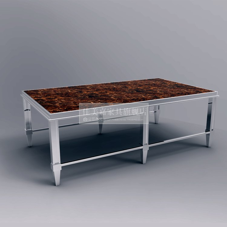 Post Modern Coffee Tables: European Neo Classical Post Modern Stainless Steel Coffee