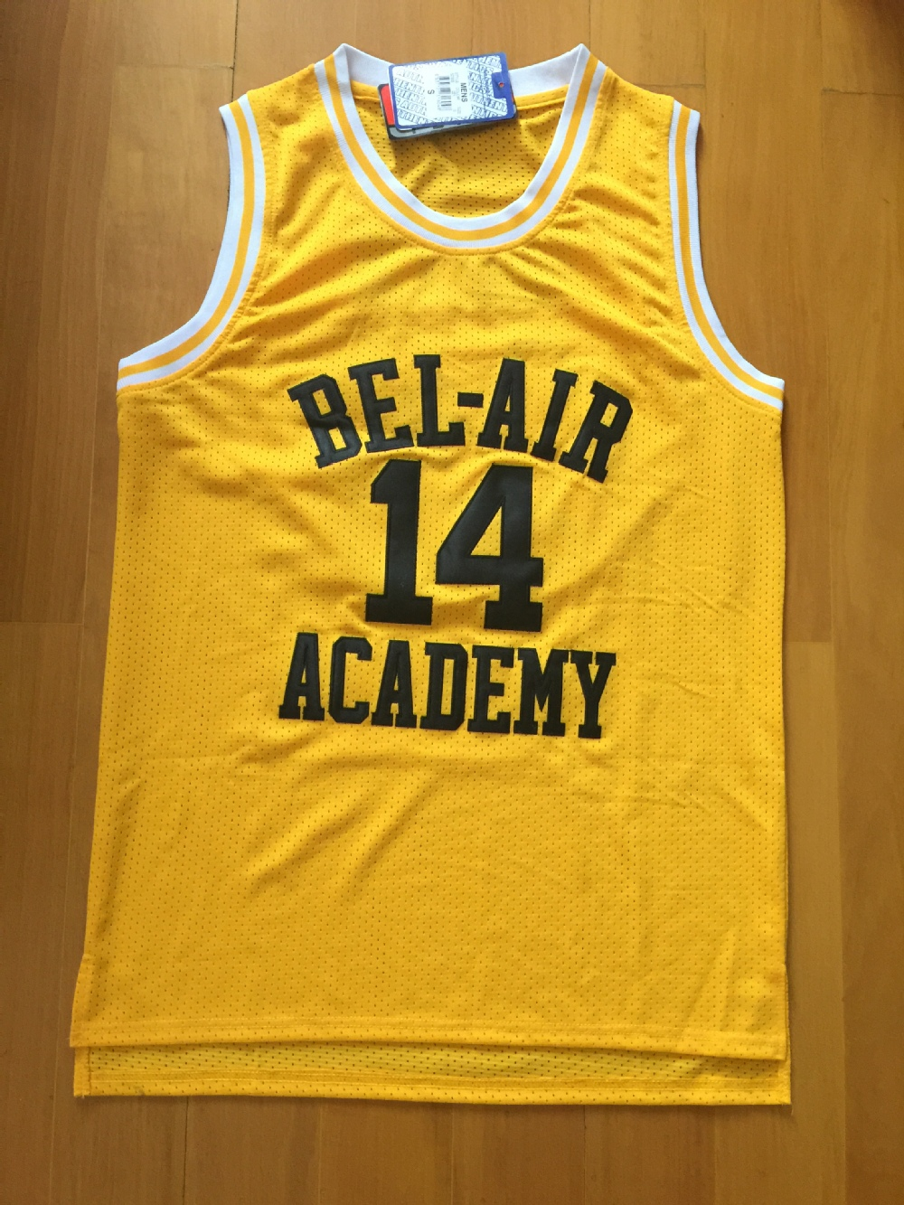 Will Smith Basketball Jersey,14 Will Smith Fresh Prince Jersey,Bel Air Academy Jersey,Stitched Bel Air Jersey Yellow S to 3XL(China (Mainland))