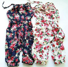 Summer Style Toddler Girls Kids Summer Soft Jumpsuit Playsuit  Clothing One-piece 2-8Y(China (Mainland))