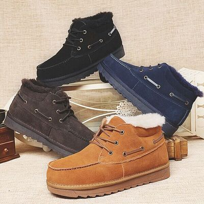 Фотография Beckham bread with men, wool short boots shoes to keep warm winter of casual shoes .ug men