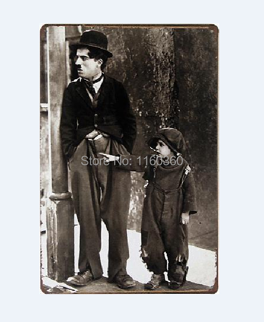 20*30CM Movie stills Chaplin Wall Decor Iron Retro Tin Metal Signs Plaques Living Room Bedroom Bar Cafe Decoration M077(China (Mainland))
