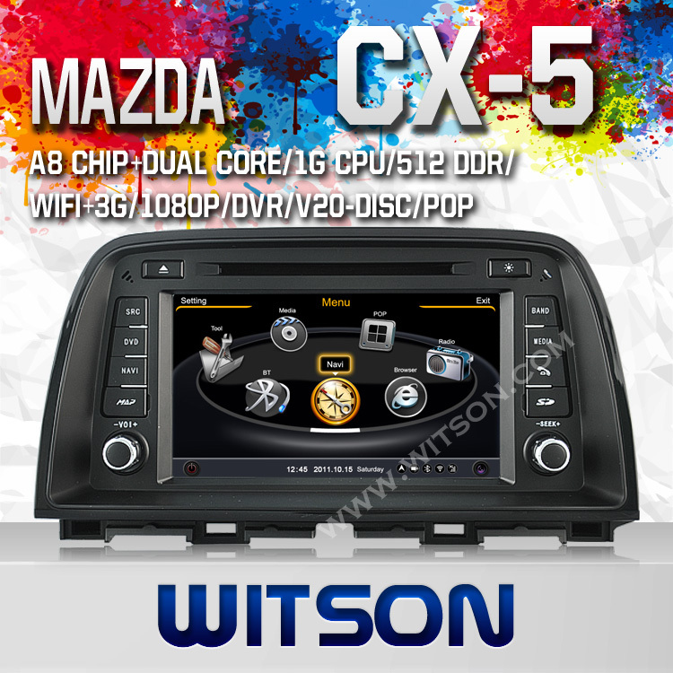 WITSON 3G MAZDA CX-5 2013 Car DVD GPS Navigation with A8 Chipset S100 Platform+Free Shipping+Free Russia Map<br><br>Aliexpress