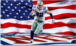 3x5ft USA dallas cowboys football number 82 jason Witten player polyester flag with gromments(China (Mainland))