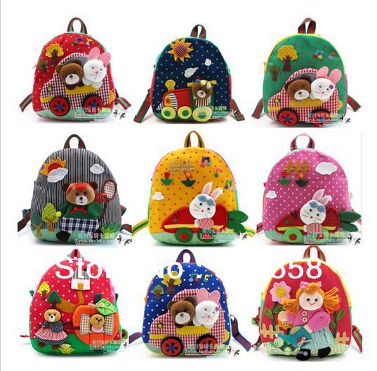 school bag girl trolley boy children bag school cartoon animal backpack fashion cartoon bag 3d shoulder kids bags for school(China (Mainland))