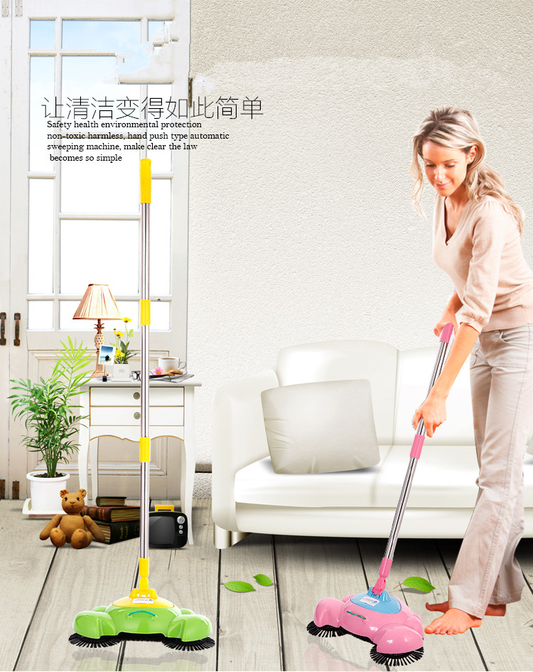 Hot Sale Pushing Sweeper Household floor cleaner Manual cleaning machine Handheld broom(China (Mainland))