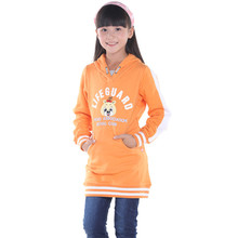 2015 spring and autumn new style baby girls casual long sweatshirts little girls fashion coat with hats YGT30239(China (Mainland))