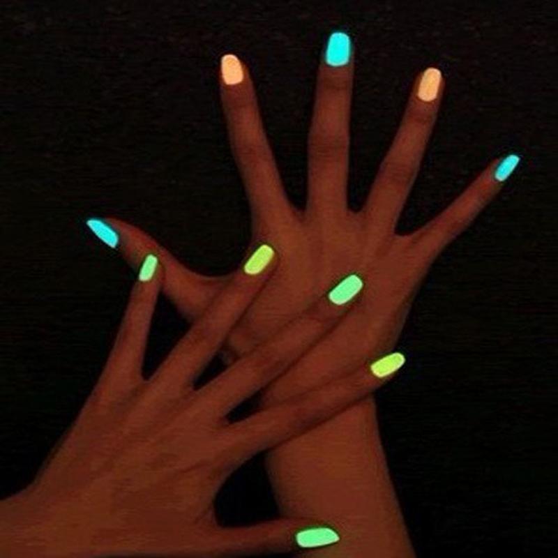 Hot Neon Fluorescent Varnish Non-toxic Nail Polish Glowing Nail Varnish Lacquer Paint Nail Art For Lady Girl Safe And Economic(China (Mainland))