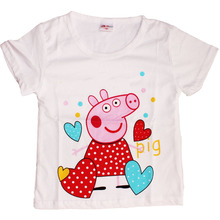 t shirt Girls Children T-shirt pig boys t shirt Short sleeve shirts Summer Kids Tops Cartoon Baby Boy Clothing Cotton t shirts