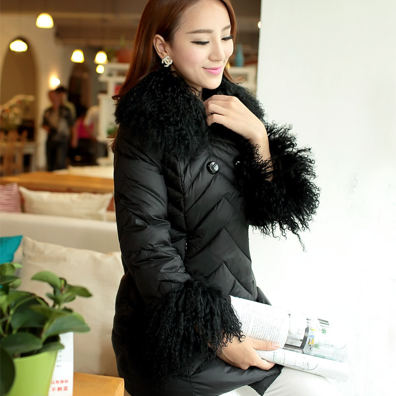 2015 winter down parka jacket women new women Nagymaros collar down jacket and long sections padded luxury free ship