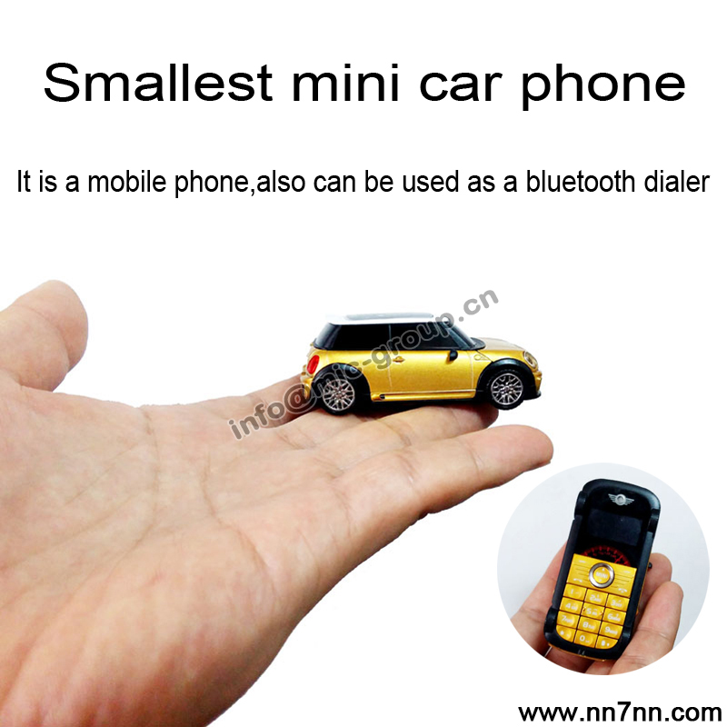 2015 Spanish Portuguese small mp3 car logo model kids cute mini bluetooth dialer Sync phonebook cell mobile phone handset P098(China (Mainland))