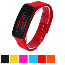 Fashion Men Candy Silicone Strap Touch Square Dial Digital Bracelet LED Waterproof Sport Wrist Watch Women Kids Watches relojes