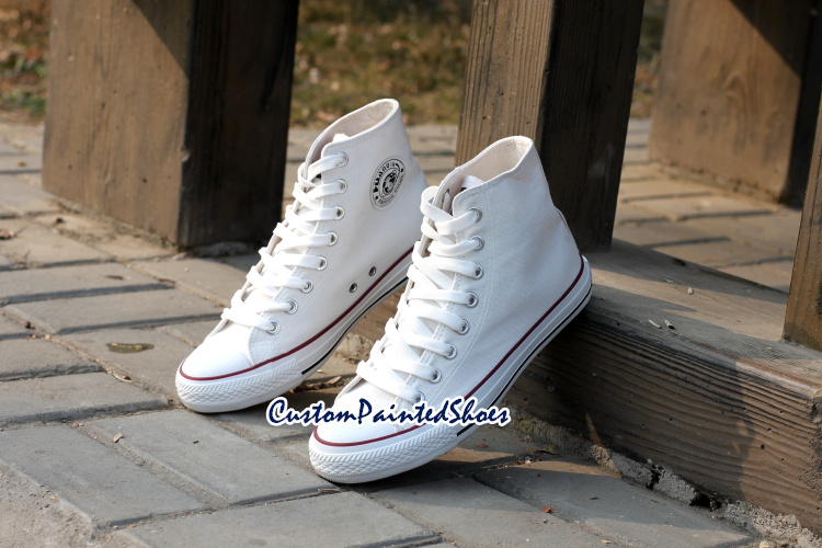 Custom Hand painted canvas shoes for men women(China (Mainland))