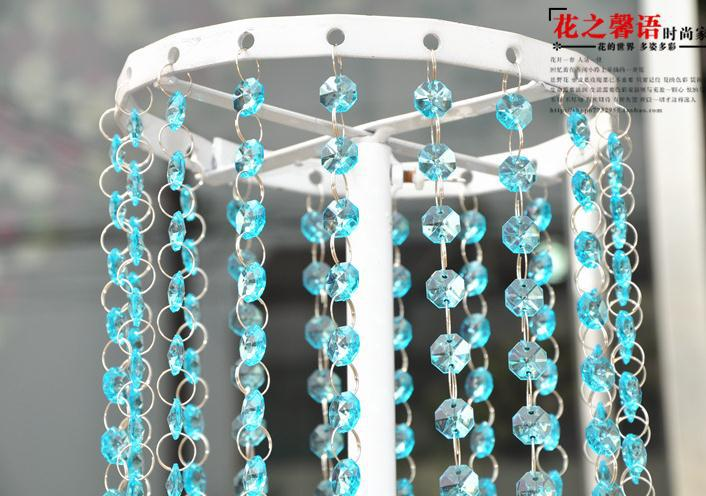 Party decoration supplies 50m lot 7colors acrylic for Plastic chandeliers for parties