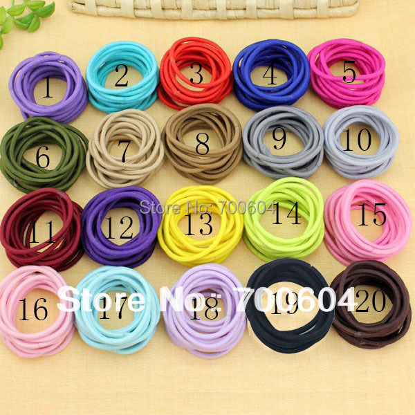 100 pcs/lot  retro hairwear hairring circle elastic hair band braid headbands rings for girl women ladies elastic hairband