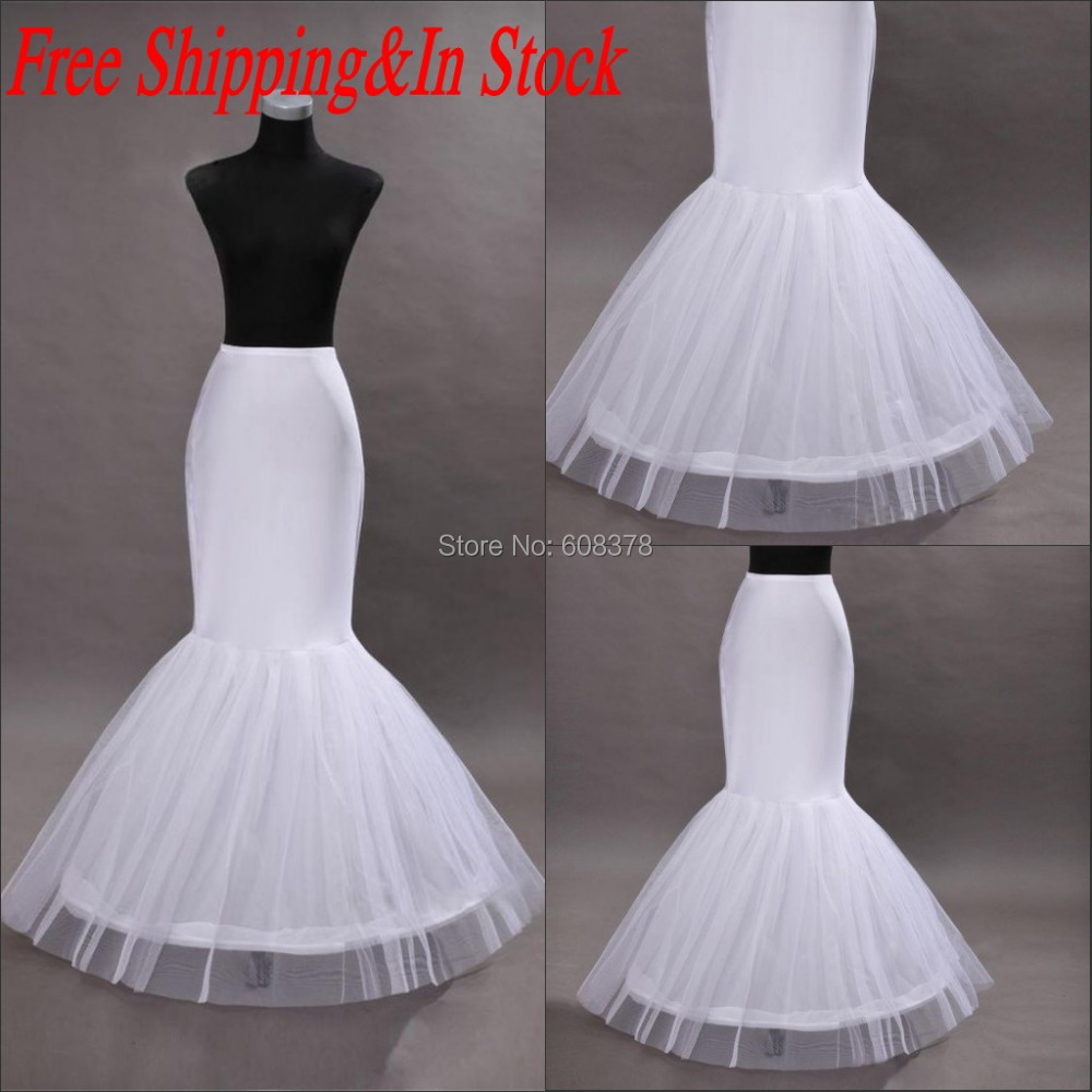 Hot vintage mermaid petticoat slip for wedding dress bone for Mermaid slip for wedding dress