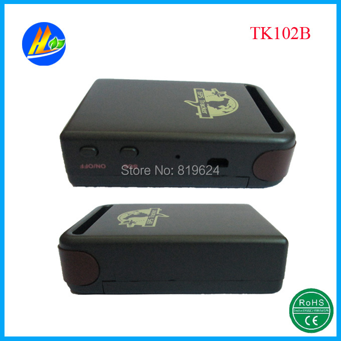 Smallest car gps tracking device TK102B with hard-wire charger and support TF card(China (Mainland))