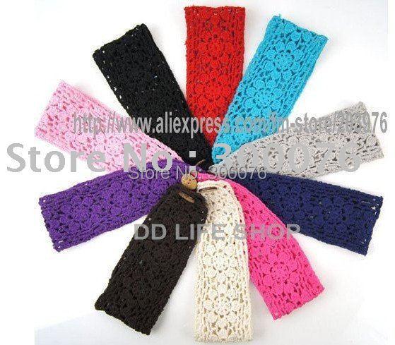 Summer style cotton Crochet Headbands handmade knit Head Wrap MOQ 60pcs mix colors(China (Mainland))