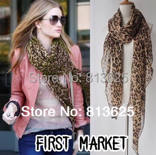 Free shopping 2015 new fashion Lady's scarves,Sexy leopard grain spring summer winter shawl,,wholesale,hotsell(China (Mainland))