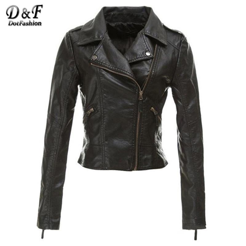 New 2015 Autumn Womens Clothes Brand Name Stylish Fashion Cool Hot Sale Motorcycle Tops Black Soft PU Leather Slim Jacket(China (Mainland))