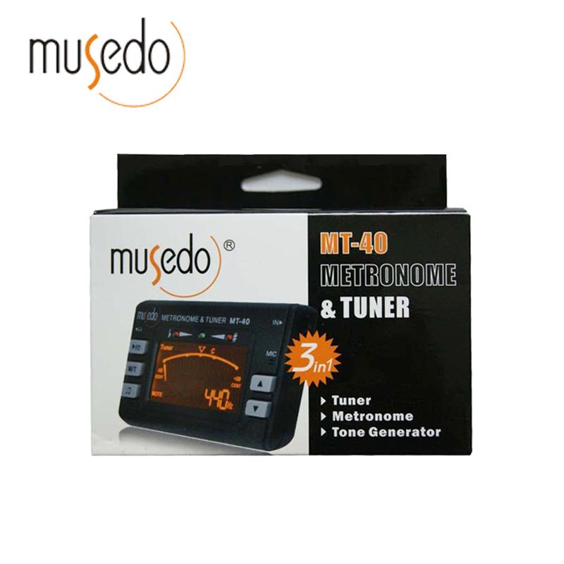 Musedo MT-40 Guitar Tuner Hot Sale! Electronic Digital 3 in 1 LCD Violin Tuner Guitar Metronome Tone Generator Tuner Clip(China (Mainland))