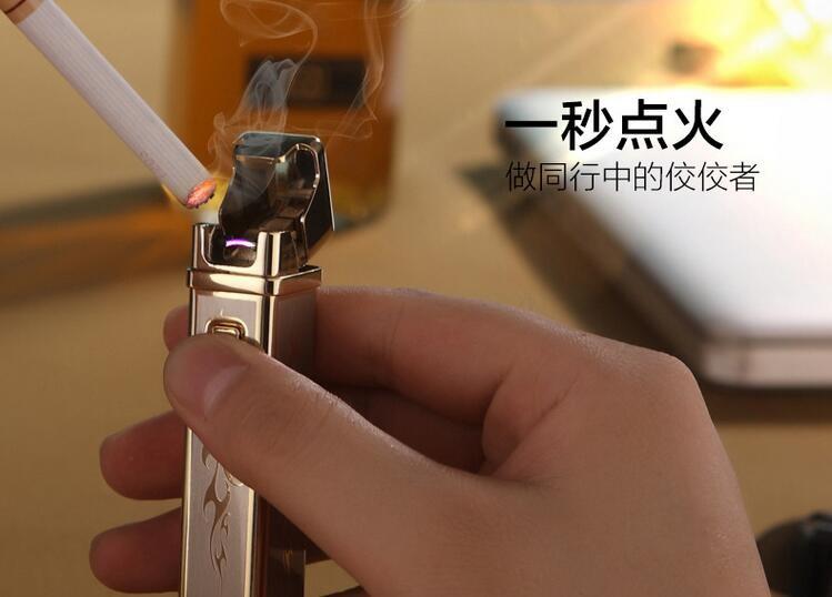 ถูก Ngตารางชีพจรarc usbชาร์จเบาบุคลิกภาพความคิดสร้างสรรค์ของขวัญไฟแช็windproofจัดส่งฟรี