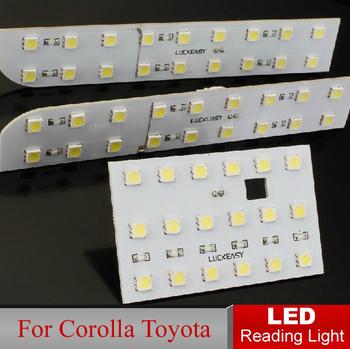 Car LED Reading Lights Reading Light for Corolla Toyota Roof Light Bright Auto Interior Full Set LED Dome lamp Interior Lighting