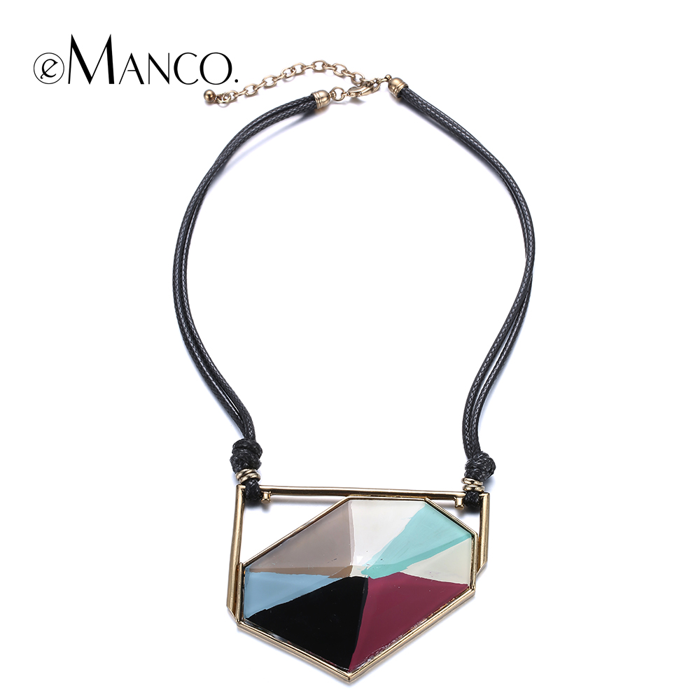 //Black wax cord necklace resin necklace// zinc alloy charms hand painted collar necklace colorful enamel 2015 eManco NL13349<br><br>Aliexpress