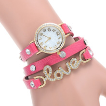 New hot punk style women's Winding bracelet watches lowest price High quality diamond jewelry quartz watch relogio feminino
