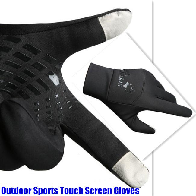 Winter Outdoor Lightweight Running 2-Finger Touch Screen Gloves For Men&Women Jogging Football Cycling,Non-slip,Waterproof