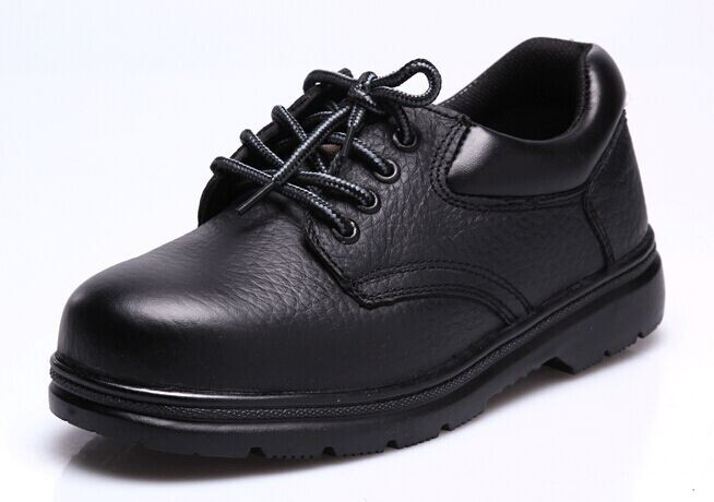 puncture proof black work shoes soft leather boots anti-hit safety shoes steel toe cap
