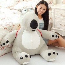 huge lovely plush Unlucky bear toy new big creative gray bear toy with a bag gift about 80cm