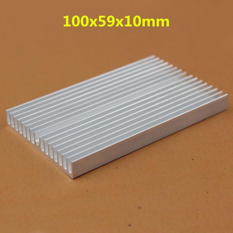 50 Pieces/lot 100*59*10mm Power Radiator Aluminum LED Heat Sink(China (Mainland))