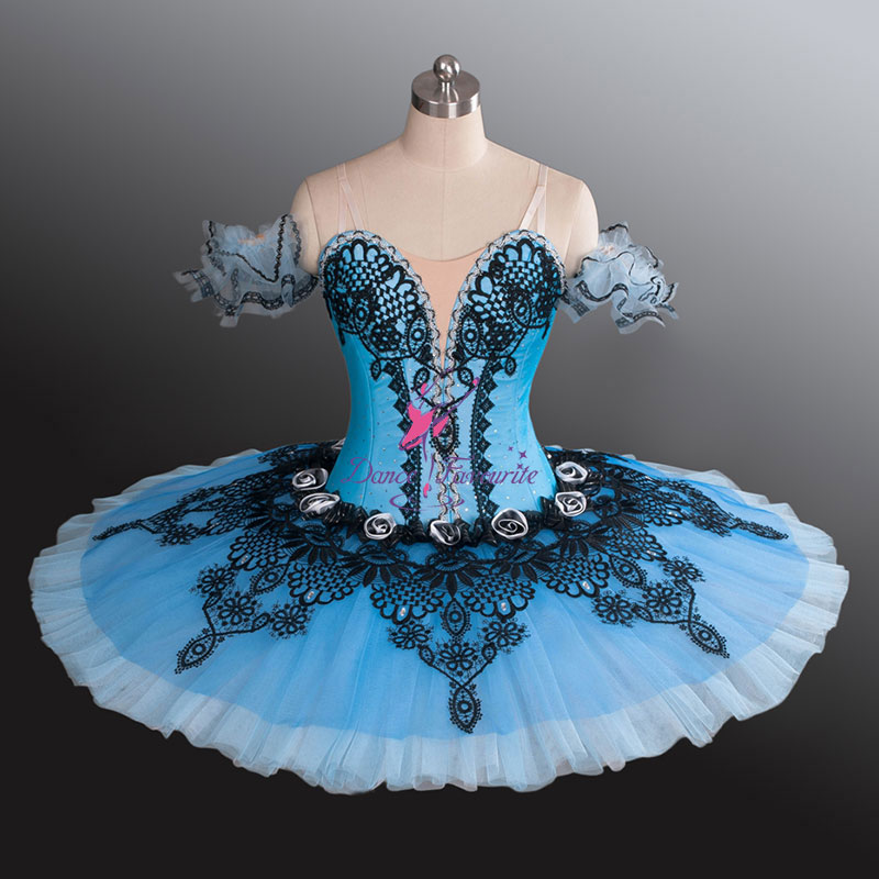 #Pancake Professional Classical Ballet tutu Blue YAGP Competition Romantic Platter tutus dance Costumes Girls Women BL1180 - Dancing House store