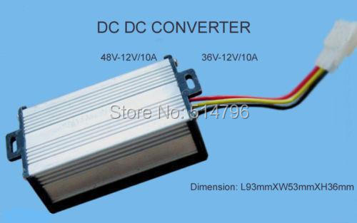 DC Voltage Reducer Converter 48V-36V to 12V For Golf Cart Forklift Fork Truck 10A 120W(China (Mainland))