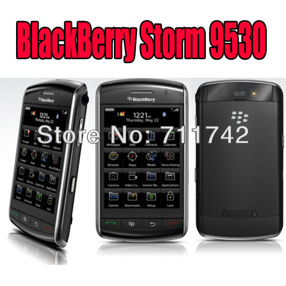 Fast shipping Refurbished Blackberry 9530 storm Unlocked Smartphone Mobile cell phone Free shipping + Holster(China (Mainland))