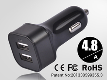 [Most Powerful Car Charger] 7.2A/4.8A Dual Usb Car Charger for iphone,Cell Phones,Tablet,Android Devices with Retail Package(China (Mainland))