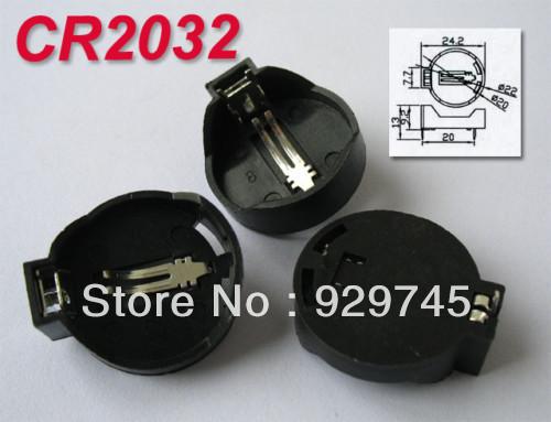 50pcs CR2032 CR2025 Computer Battery Socket Holder Case(China (Mainland))