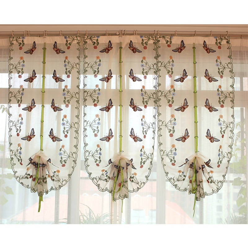 2016 Butterfly Kitchen Curtains Tulle For Windows