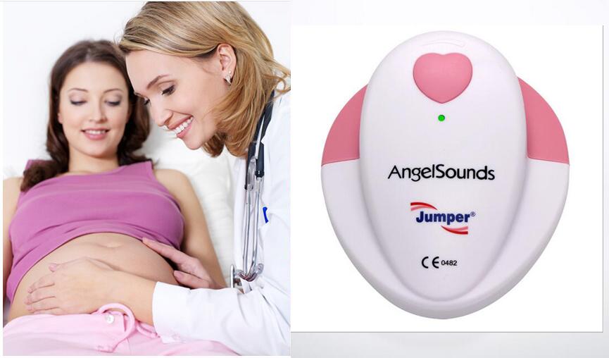Jumper AngelSounds fetal doppler Pocket Ultrasound Prenatal Fetal Detector Portable Baby HeartRate detector Baby monitor(China (Mainland))