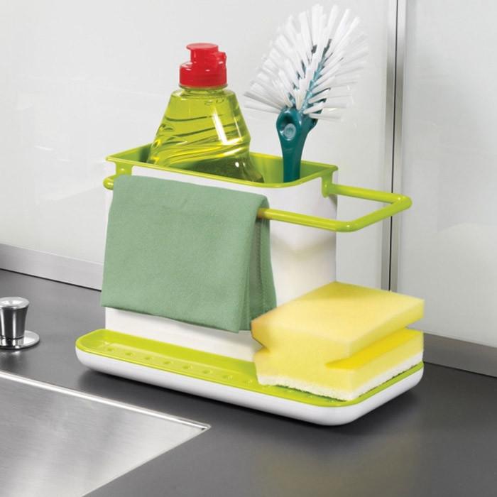 New 3 IN 1 Glove Storage Holder Debris Rack Dishclout Storage Rack kitchen organizer Box Stands Utensils quality first 1pcs