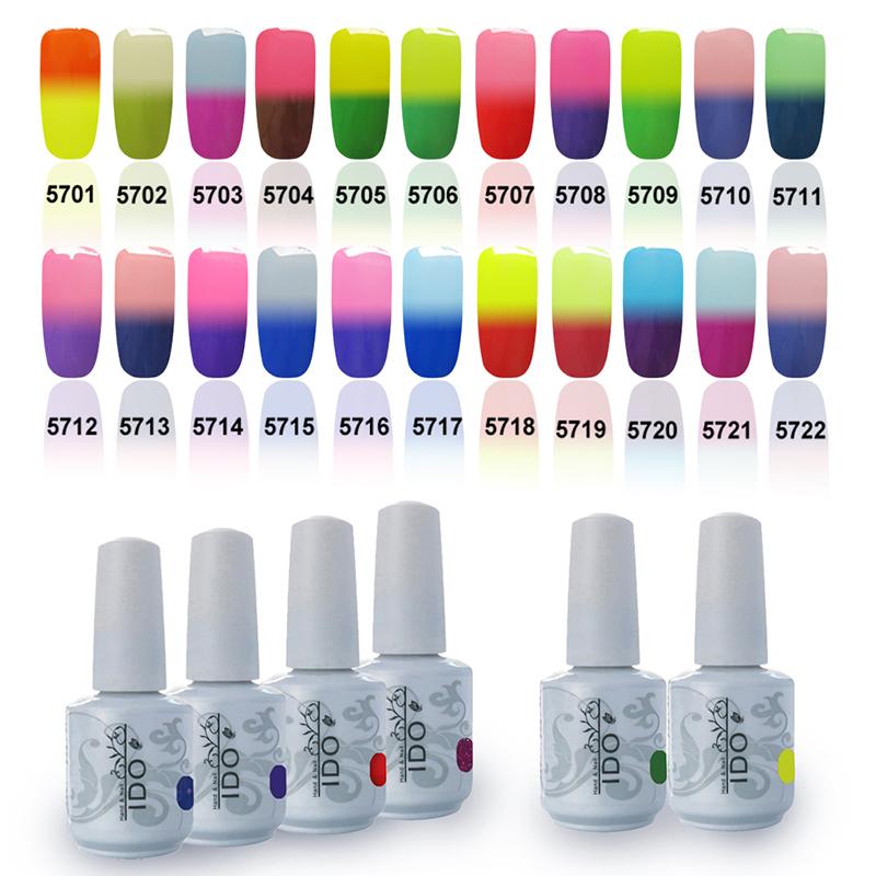 Color Changing Gel Nail Polish: IDO Temperature Change Color Gel Polish Total 48 Colors