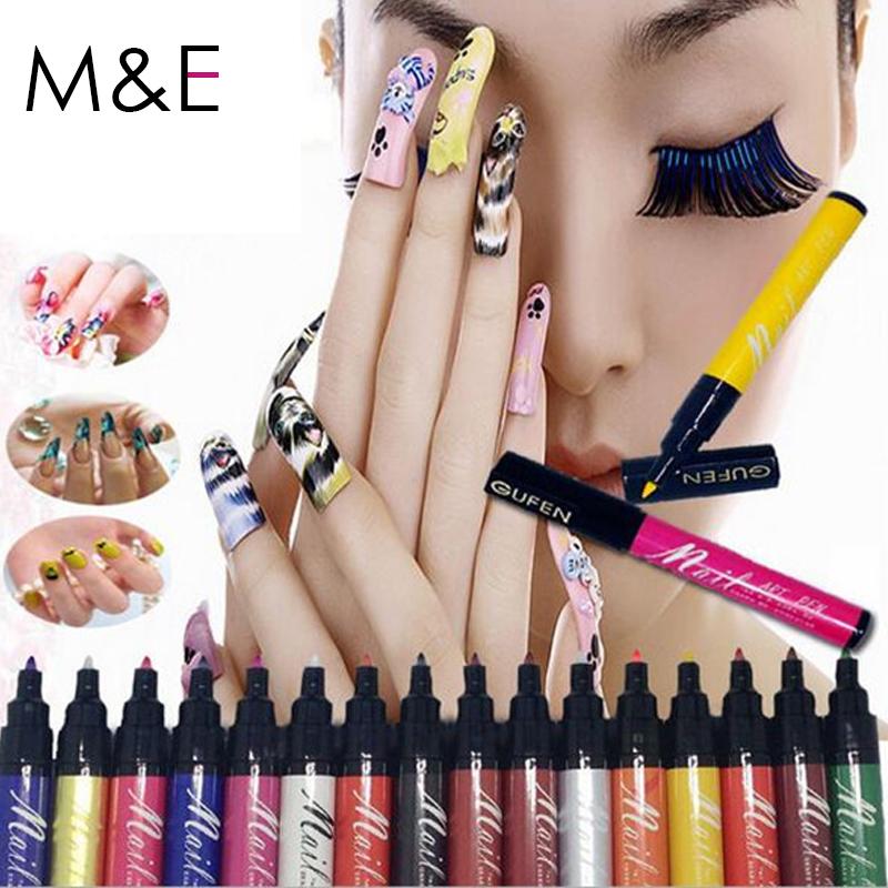 Stamp Polish Nail Polish Nail Art Pen 16 Color Optional Nail Beauty Tools Painting Design Nail 3D Print Drawing Free Shipping(China (Mainland))