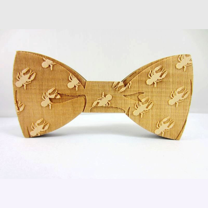2016 Fashion Party Wedding Ties Fancy Dress the Groom Groomsman Men's Bowtie Fashion Wooden Bow Tie(China (Mainland))