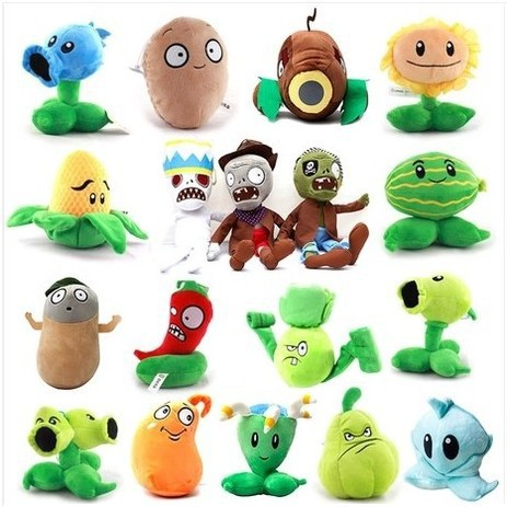 Promotion Low Price PVZ Stuffed Animal Kids Games Cartoon Toys Birthday Gift Toys(China (Mainland))